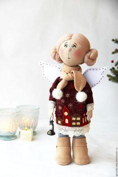 """Коллекционные куклы ручной работы. Ярмарка Мастеров - ручная работа. Купить Ангел """"Чтобы все были дома..."""". Коллекционная текстильная кукла.. Handmade."""