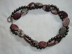 Picture Perfect Picture Agate and Swarovski Pearl Necklace on Etsy, $115.00