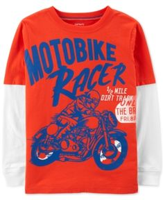 4876a15373a Carter s Little   Big Boys Layered-Look Long-Sleeve Cotton Shirt - Orange 4