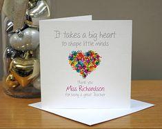 Personalised Thank You Teacher Card - Shape Little Minds - Teacher Gifts - Teaching Assistant/Childminder/Helper - School/Nursery/Playgroup