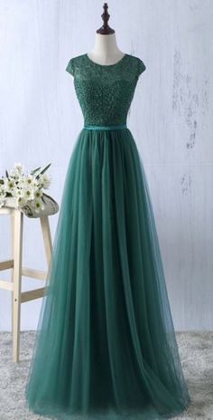 New Arrival Prom Dress,Round Neck Prom Dresses,A Line Prom Dress, Appliques Prom Party Dress,Long Evening Dress