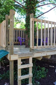 Learn how to build a DIY tree house in your own backyard. You can customize the tree house to fit your needs. Backyard Playground, Backyard For Kids, Backyard Projects, Outdoor Projects, Outdoor Decor, Outdoor Play, Cubby Houses, Play Houses, Simple Tree House