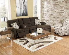 Cybertrack-Chocolate Reclining Sofa Collection
