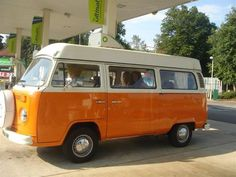 Volkswagen Camper with the curtains in the back - we had one JUST like this