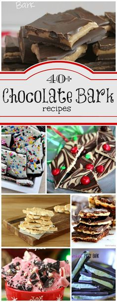 Bark Candy Recipes Chocolate Bark is the easiest candy you can make. Here are Chocolate Bark Candy recipes found at Chocolate Bark is the easiest candy you can make. Here are Chocolate Bark Candy recipes found at Köstliche Desserts, Holiday Baking, Christmas Desserts, Christmas Treats, Delicious Desserts, Christmas Bark, Xmas, Handmade Christmas, Christmas Chocolates