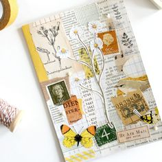 Old Paper, Vintage Paper, Daphnes Diary, Mail Art Envelopes, Pen Pal Letters, Sketch Journal, Glue Book, Bullet Journal Inspiration, Mini Books