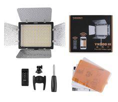 62.00$  Buy here - http://ali6yy.worldwells.pw/go.php?t=32658283479 - Yongnuo YN300 III 5500K CRI95 LED Video Light DSLR Camera Photography Photo Studio lighting Lamp 62.00$