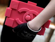 Trending Street Style Fashion: Chanel Bag. Lego Chanel Clutch at the Street of Paris in Haute Couture Fall Winter 2013 Fashion Week. More Fa...