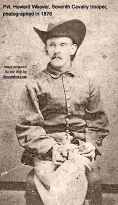 Pvt. Howard Weaver, Seventh Cavalry trooper, photographed in 1876