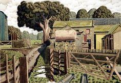 Braithwaite Farm by Simon Palmer - ) Watercolor Landscape, Landscape Paintings, Watercolour, Garden Journal, European Paintings, Modern Landscaping, Illustration Art, Illustrations, Travel Posters