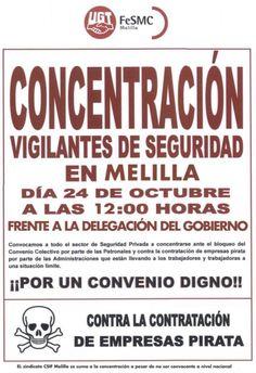 SECCIO SINDICAL UGT SECURITAS CATALUNYA: Concentracion en Melilla