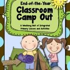 """{See the FREE PREVIEW below.}    This end-of-the-year """"Classroom Camp Out"""" is a fun and engaging week-long unit that integrates reading, writing, wor..."""