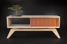 San Luis Obispo based furniture designer Jory Brigham uses sustainable plywood, plantation Teak, and FSC certified walnut to create this delightful furniture collection. His self-named company is m… Simple Furniture, Minimalist Furniture, Plywood Furniture, Furniture Projects, Modern Furniture, Furniture Stores, Futuristic Furniture, Furniture Outlet, Modern Minimalist