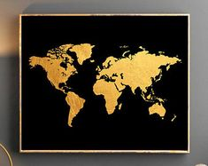 Found it at wayfair gilded map by all that glitters graphic art on gold world map world map wall art gold world map poster golden world map watercolor wallpaper gumiabroncs Images
