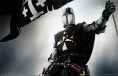 fantasia, cavaleiro medieval, armadura, herói, arma, exército, bandeira, história papéis de parede