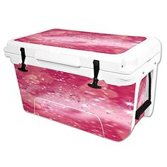 MightySkins Protective Vinyl Skin Decal Wrap for RTIC 45 qt Cooler cover sticker Pink Diamonds * Check out this great product.