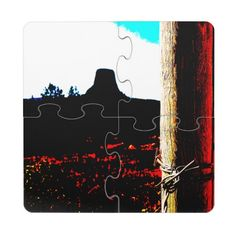 Devils Tower National Monument Puzzle Coaster