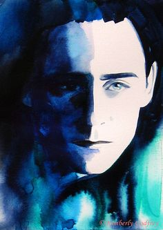 Tom hiddleston / loki watercolor painting on etsy Hey, I found this really awesome Etsy listing at https://www.etsy.com/listing/190450699/loki-tom-hiddleston-fine-art-print-of