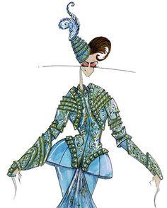 «#JohnGalliano for #ChristianDior #HauteCouture Fall 2007 embroidered…