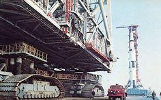 NASA Crawler Transporter and Apollo rocket