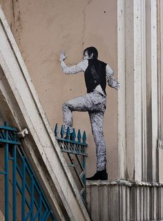 Paris street art / Levalet #street art #streetart #graffiti