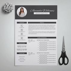 Resume Template Pk Cv Template Cover By Theresumeboutique