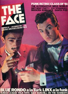 """""""In 1980 at age Christos Tolera joined Chris Sullivan to form the Latin jazz combo Blue Rondo á la Turk, appearing in many publications including the cover of The Face magazine"""" The Face Magazine, Id Magazine, Magazine Covers, Dj Mix Music, The Blitz, Star Wars, New Romantics, Modern Romance, The V&a"""