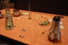 human Mars: Mars base model by Kevin Atkins