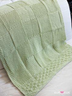 Ewe Ewe Charles + Chelsea Easy Baby Blanket Knitting Pattern
