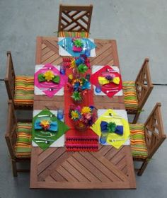 """Fiesta Table Setting...I am going with the """"brights""""!"""