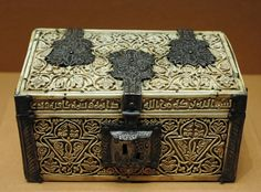 Arqueta de marfil,arte califal de Medina Azahara,antigua Cordoba,966  Museo del Louvre
