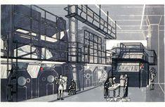 Edward Bawden. Printing thr Sunday Times linocut 1956