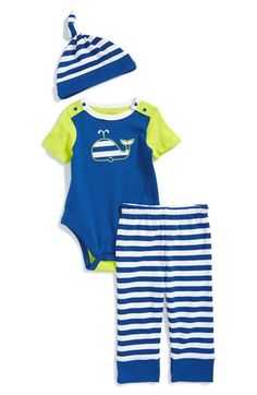 Offspring Whale Bodysuit, Pants & Hat (Baby Boys) available at #Nordstrom