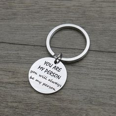 """Sentimental gifts for best friends - """"You are my person. You will always be my person"""" friendship quote keychain Gifts For Your Girlfriend, Bff Gifts, Gifts For Husband, Love Gifts, Boyfriend Gifts, Gifts For Friends, Gifts For Him, Boyfriend Quotes, Bff Quotes"""