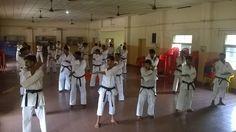 .Karate Sankar is Training in 5th Dan Black Belt Exam in Kerala. This photo is Karate Sankar's 5th Dan Karate Exam.