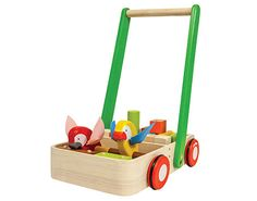 Bird walker comes with 2 birds and 16 wooden blocks, when pushed; it creates a unique sound which encourages kids to walk.