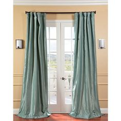Shop for Exclusive Fabrics Solid Faux Silk Taffeta Robin's Egg Curtain Panel. Get free delivery at Overstock.com - Your Online Home Decor…