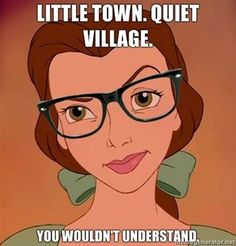 hipster disney i wish everyone would understand your humor Hipster Belle, Hipster Disney, Hipster Princess, Hipster Ariel, Princess Belle, Bad Princess, Funny Princess, Princess Power, I Love Books