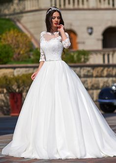 "Wedding dress Inessa from ""Jasmine ♔ Empire"". Contacts salons in your city ✉ ✆"