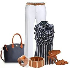 0da366e5584 ツ White Pants Summer, Work Chic, Classy Outfits, Casual Outfits, Cute  Outfits