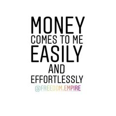 Repeat after me: Money comes to me easily and effortlessly! .  Come join us in the Freedom Queens Collective private Facebook group. A group for Freeqs (ladies only) to connect with each other and to provide a place to share your feelings concerns questions seek and provide support advice tips and tricks. A place to learn grow together and empower one another - our very own personal cheer squad! - on our journey to building our Freedom Empires! Link in bio! . . . . #freedomempire…