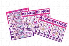 Doc Mcstuffins Bingo Game Doc Mcstuffins Party by lovebuggydesigns, $5.99