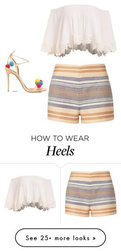 """Untitled #211"" by imane-alone on Polyvore featuring Aquazzura and Solid & Striped"