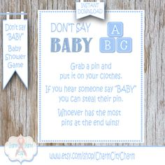 Baby Shower Clothes Pin Game Prepossessing Nautical Don't Say Baby Baby Shower Game Clothes Pin Game Nautical Inspiration