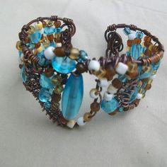 amazing handmade copper jewelry / free hand copper cuff.