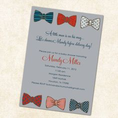 Goes with the other bow tie invite