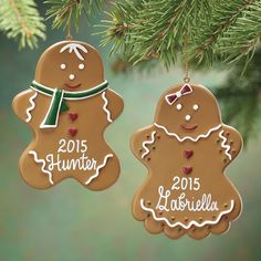 Personalized Gingerbread Ornament - Zoom Diy Christmas Tree, Christmas Tree Decorations, Christmas Time, Christmas Ornaments, Holiday Decor, Gingerbread Ornaments, Hallmark Ornaments, Boy Or Girl, Embellishments