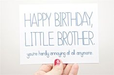 Funny Happy Birthday Little Brother ... Birthday Wishes And Images, Birthday Wishes Funny, Happy Birthday Pictures, Happy Birthday Little Brother, Birthday Cards For Brother, Happy Birthday Brother Quotes, Happy New Year Images, Celebrate Good Times, Funny Happy