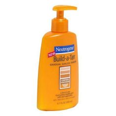 Neutrogena Build-A-Tan Gradual Sunless Tanning, 6.7 Ounce (Pack of 2) by Neutrogena. $9.48. Clinically proven to provide natural-looking, even color. Provides a hint of color that builds a healthy glow with every use. Streak-free results. Case of two 6.7-ounce pump bottles of sunless tanning lotion (total of 13.4 ounces). Dries in 5 minutes and develops in 4 to 6 hours; light, fresh scent. With Build-a-Tan from Neutrogena, you can get the tan that's natural to your skin. ...