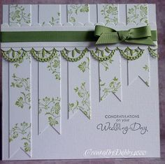 Wedding Card Design Creative Stampin Up Ideas Pretty Cards, Cute Cards, Wedding Anniversary Cards, Card Wedding, Ribbon Wedding, Happy Anniversary, Wedding Invitation, Diy Wedding, Card Sketches